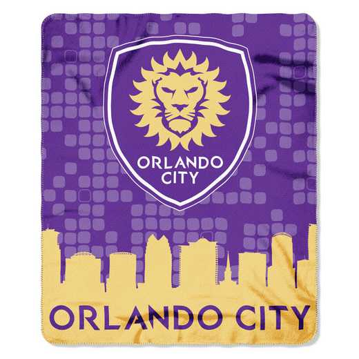 1MLS031000023RET: NW MLS 031 Orlando City FC Skyline Fleece Throw